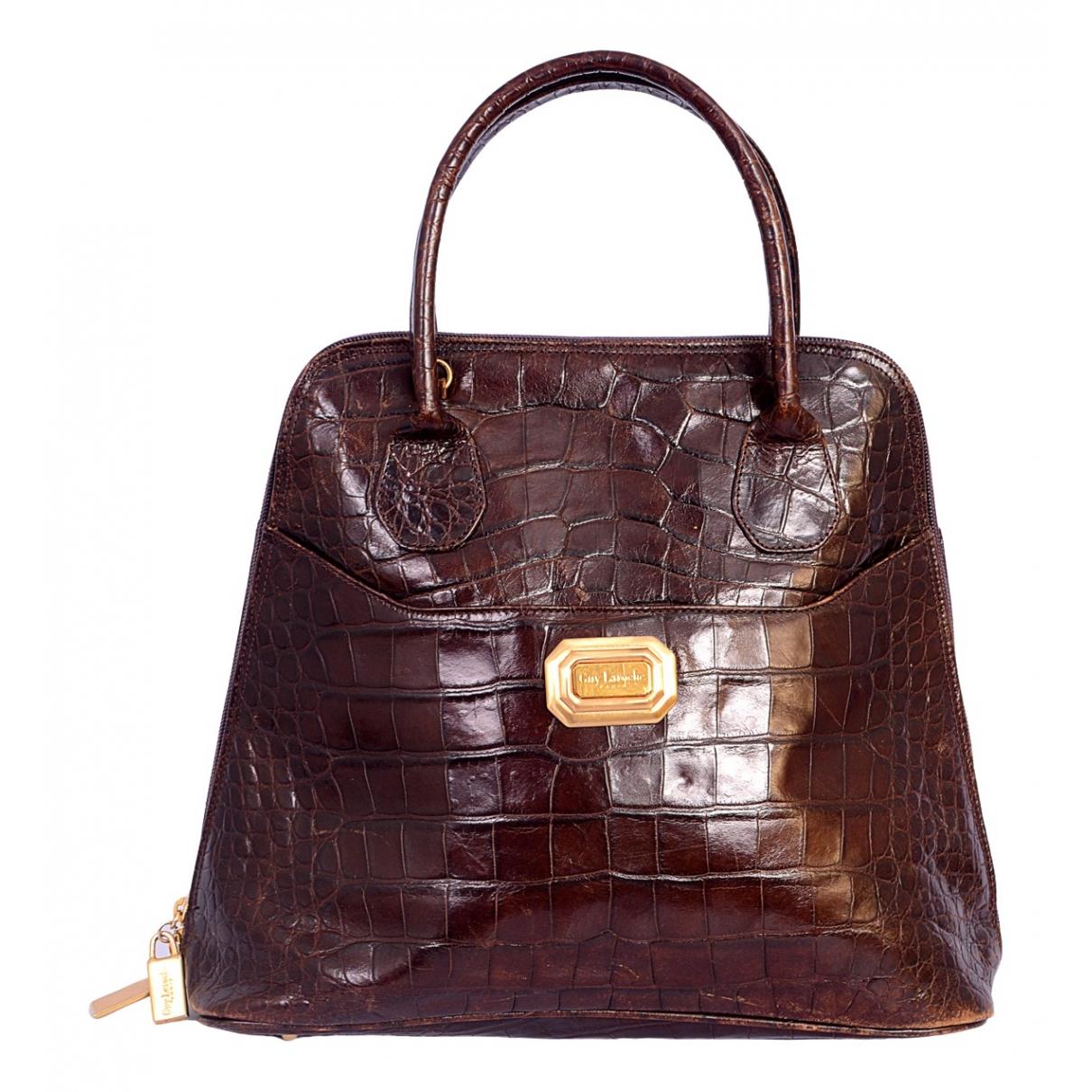 Guy Laroche \N Brown Leather handbag for Women \N