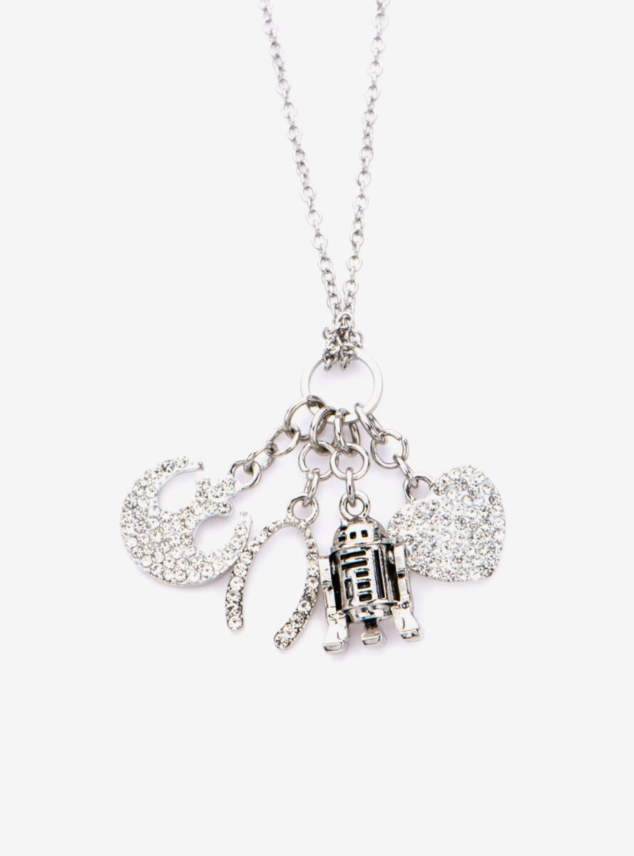 Star Wars R2-D2 Multi Charm Stainless Steel Necklace