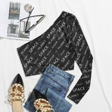 Letter Graphic One Shoulder Tee