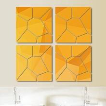 Geometric Design Mirror Surface Wall Sticker