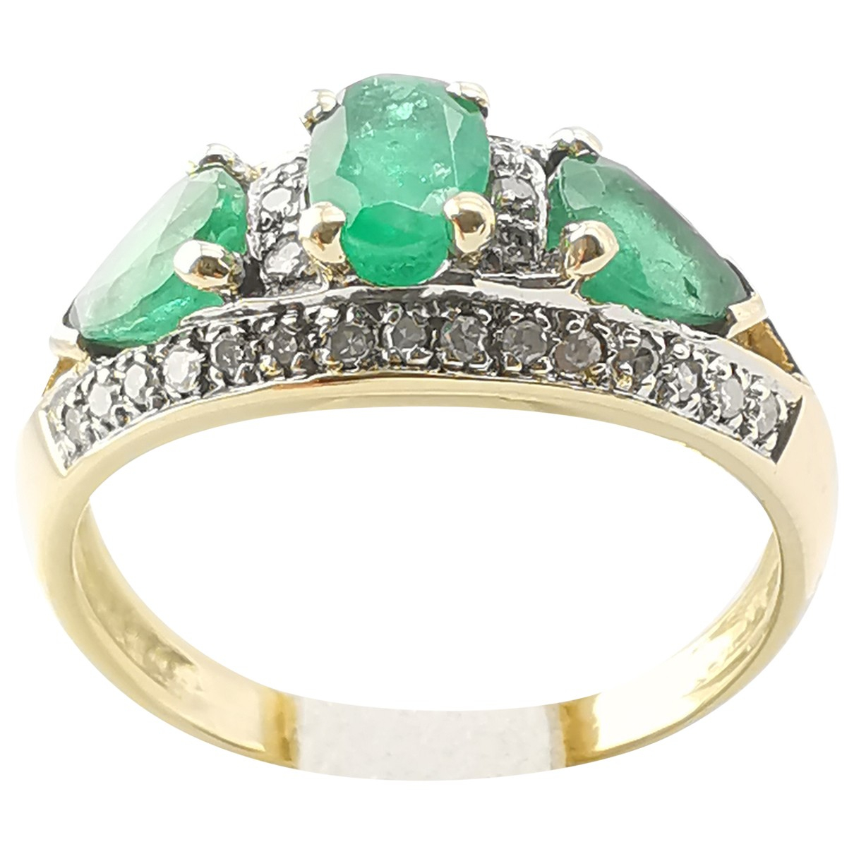 Non Signé / Unsigned Emeraude Gold Yellow gold ring for Women 57 EU