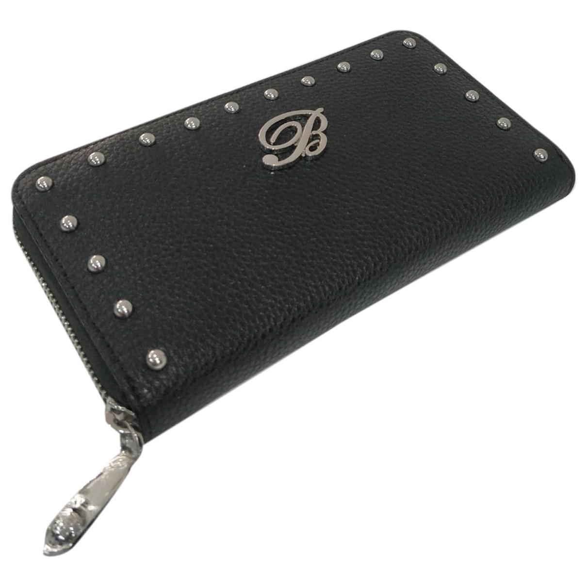 Blumarine \N Black Leather wallet for Women \N