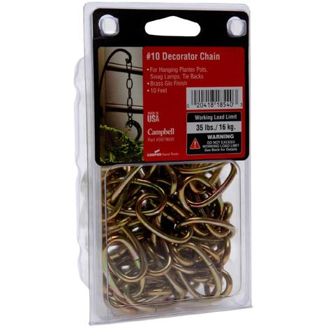Campbell Decorator Chain, ##10 Brass Glo