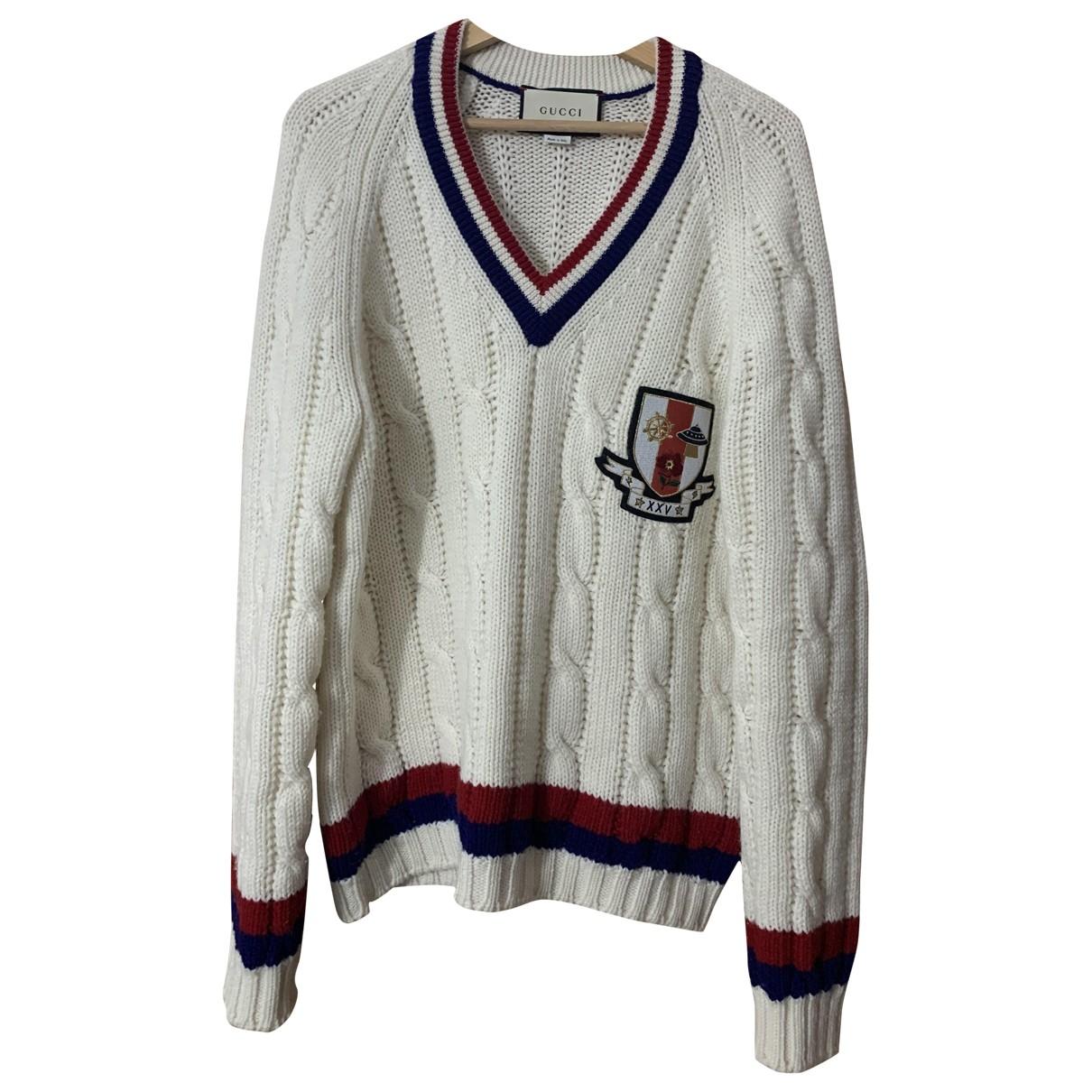 Gucci \N Pullover.Westen.Sweatshirts  in  Weiss Wolle