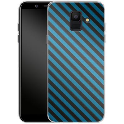 Samsung Galaxy A6 Silikon Handyhuelle - Stripes von caseable Designs