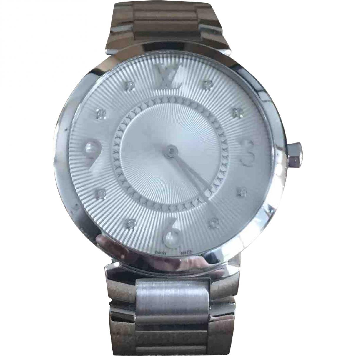 Louis Vuitton Tambour Silver Steel watch for Women \N
