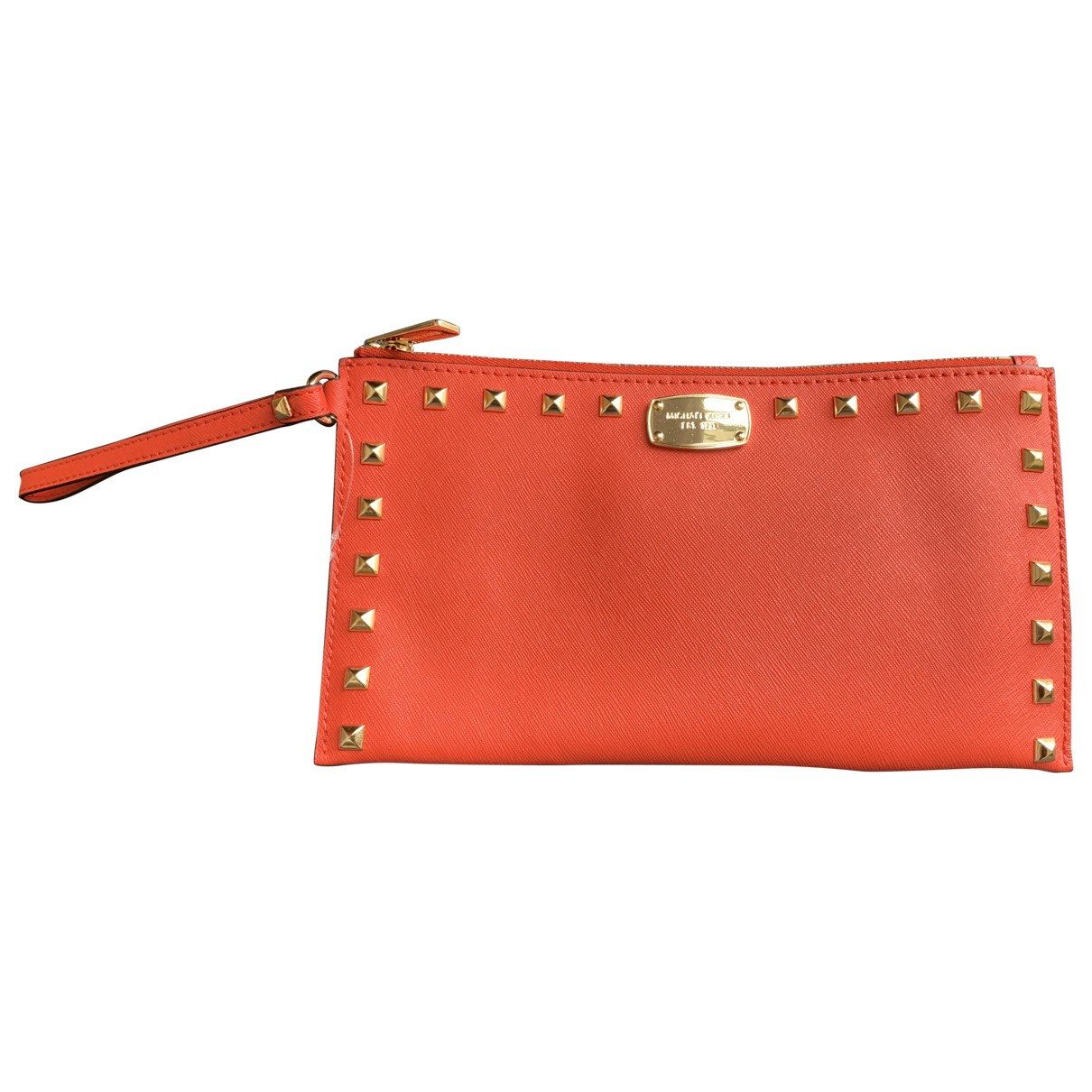 Michael Kors Selma Clutch in  Orange Leder