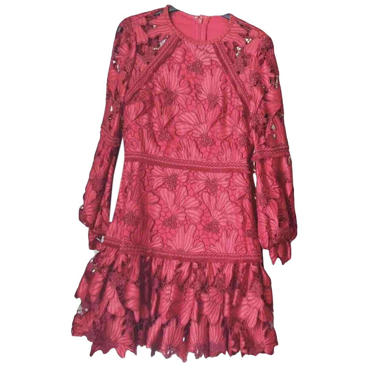 Alexis \N Kleid in  Rot Baumwolle