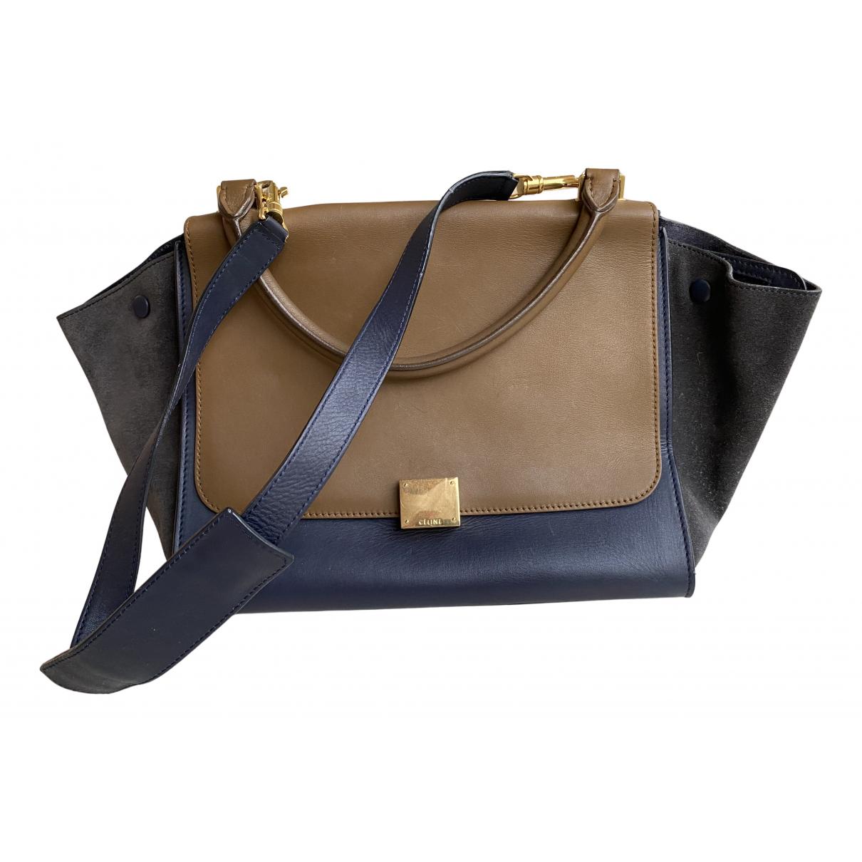 Celine Trapèze Blue Leather handbag for Women N