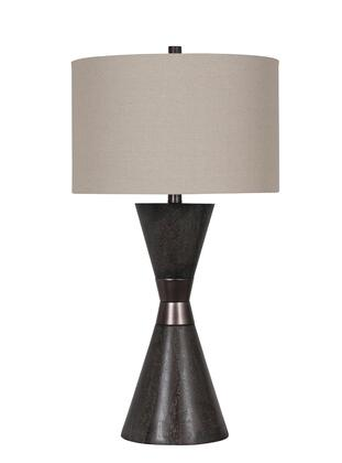 JTL06KT-DW 1-Light Table Lamp with Polyresin and Metal Materials and 100 Watts in Dark