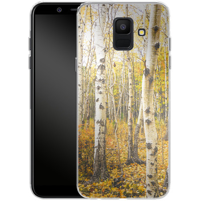 Samsung Galaxy A6 Silikon Handyhuelle - Fallen Leaves von Joy StClaire