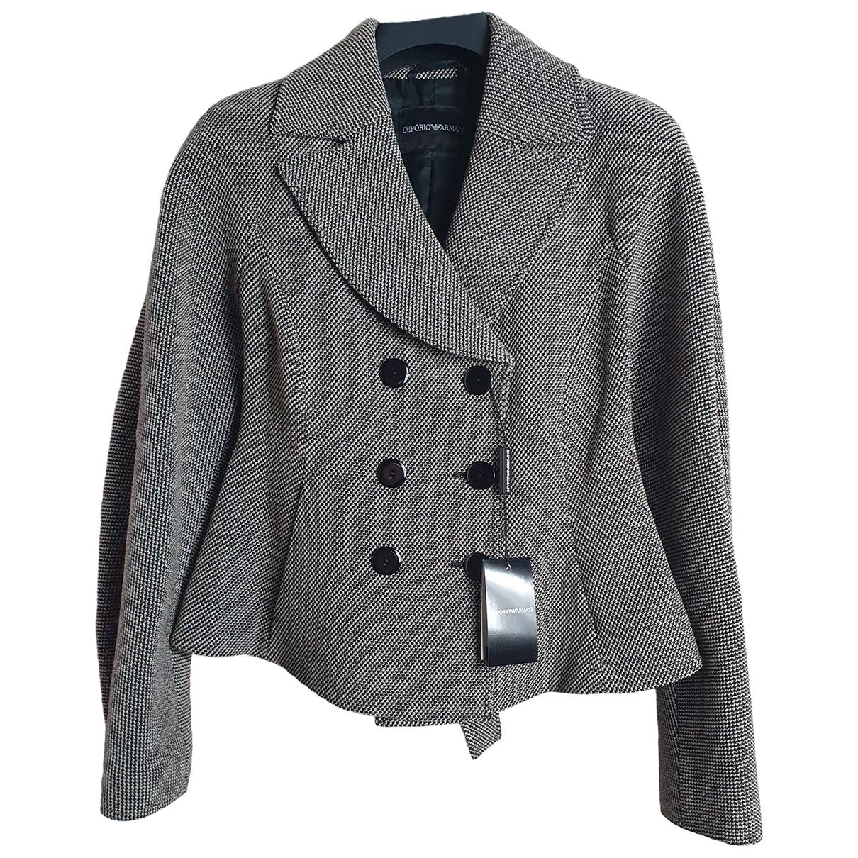 Emporio Armani \N Jacke in  Beige Wolle