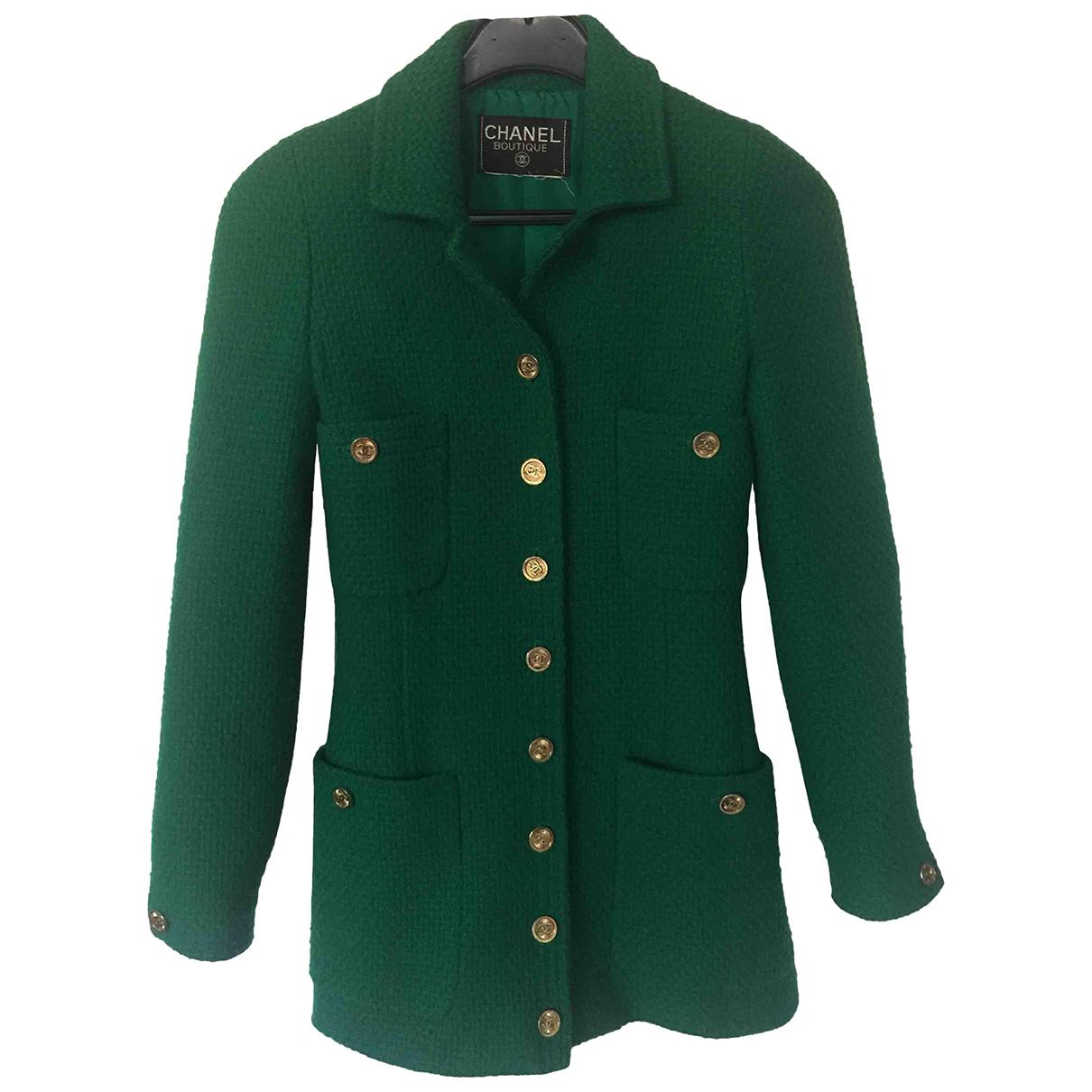 Chanel - Veste   pour femme en laine - vert
