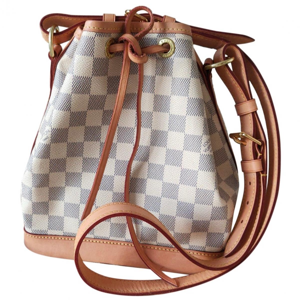 Louis Vuitton Noe Handtasche in  Ecru Leinen