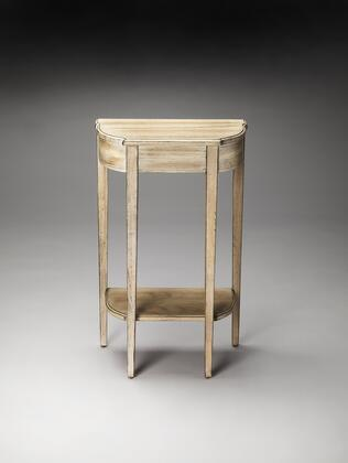 Wendell Collection 3009247 Console Table with Transitional Style  Demilune Shape and Wood Material in Driftwood