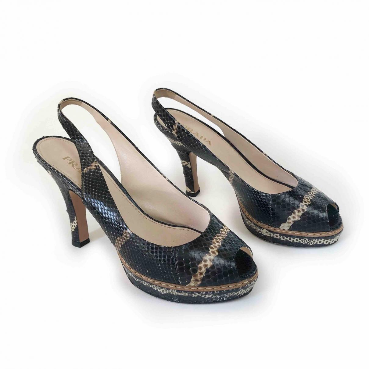 Prada - Sandales   pour femme en python - multicolore