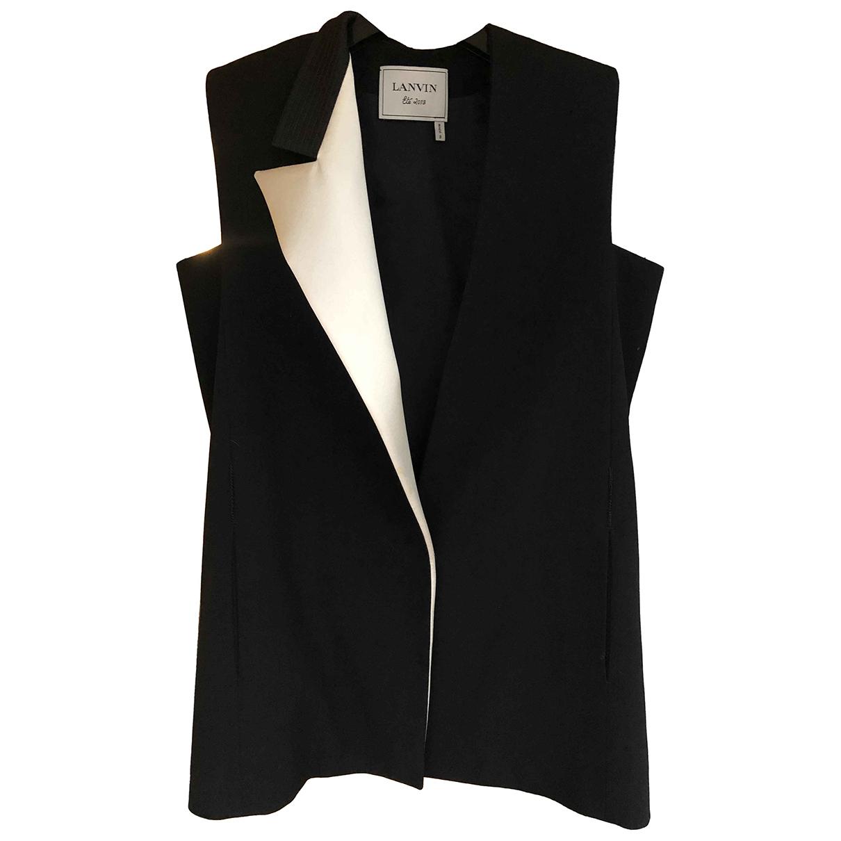Lanvin - Veste   pour femme en laine - noir