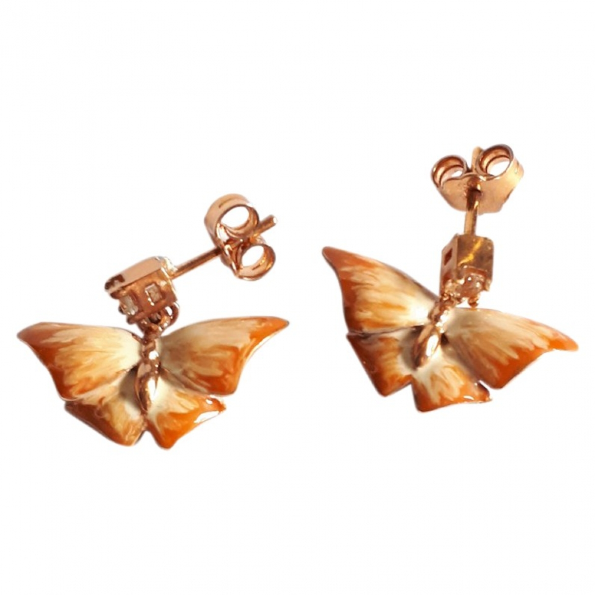 Non Signé / Unsigned Motifs Animaliers Gold Silver Earrings for Women \N