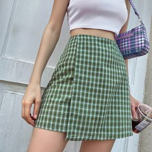 Tartan Plaid Straight Skirt