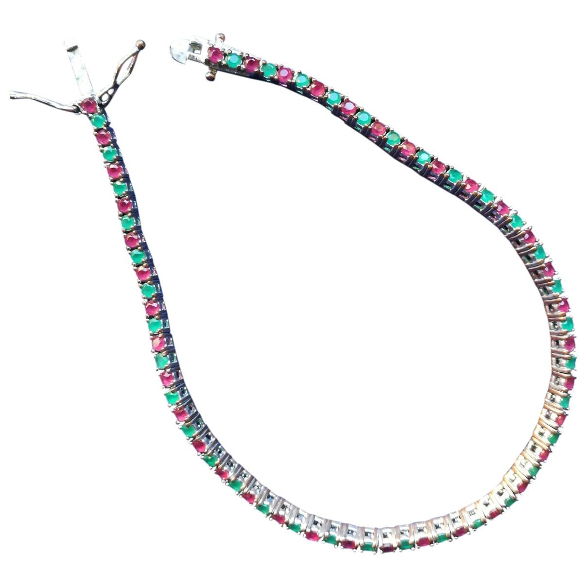 - Bracelet Tennis pour femme en argent - multicolore