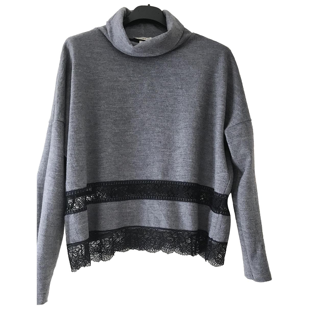 Pinko - Pull   pour femme en laine - gris