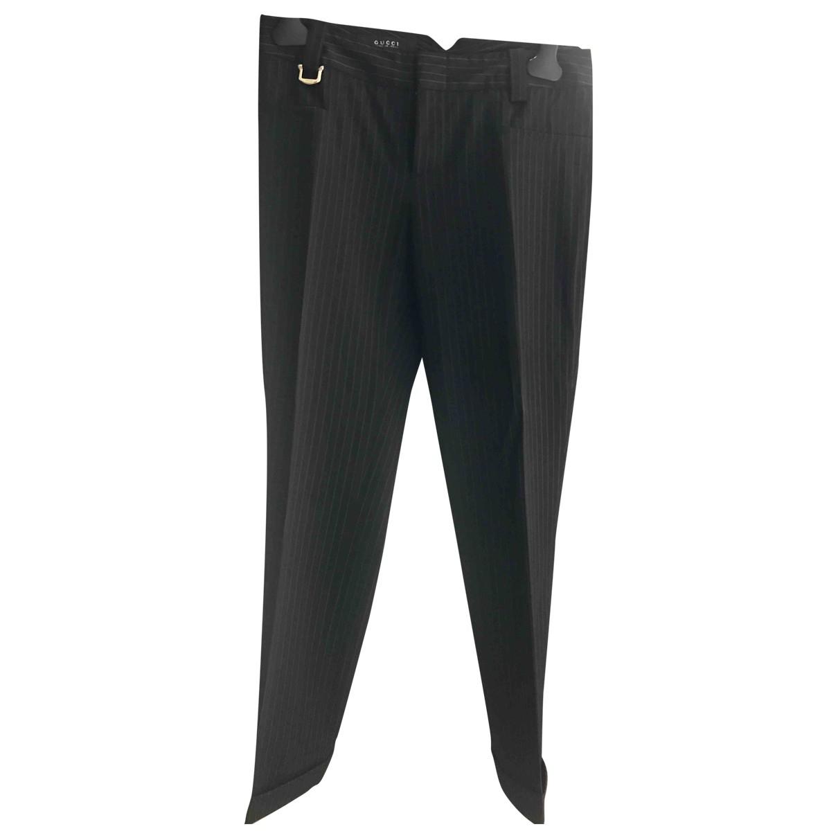 Gucci N Black Wool Trousers for Women 40 IT