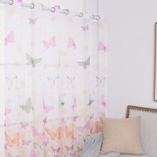 Butterfly Print Single Panel Curtain