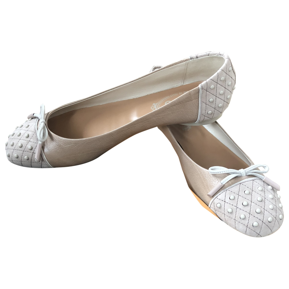 Tod's \N Beige Leather Ballet flats for Women 39 EU