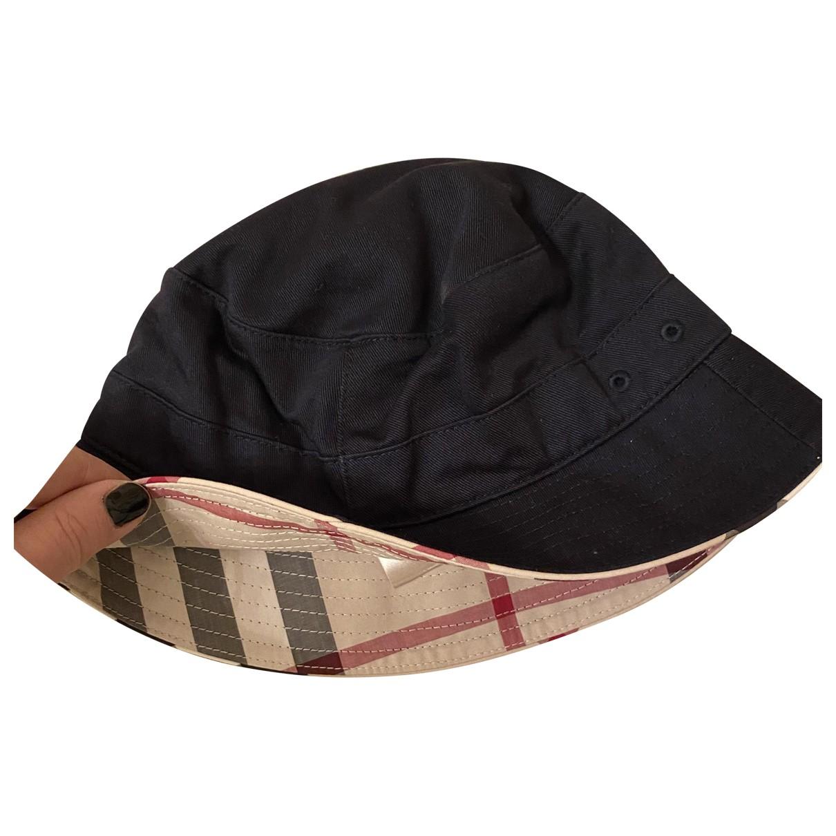 Burberry \N Hut, Muetzen, Handschuhe in  Schwarz Baumwolle