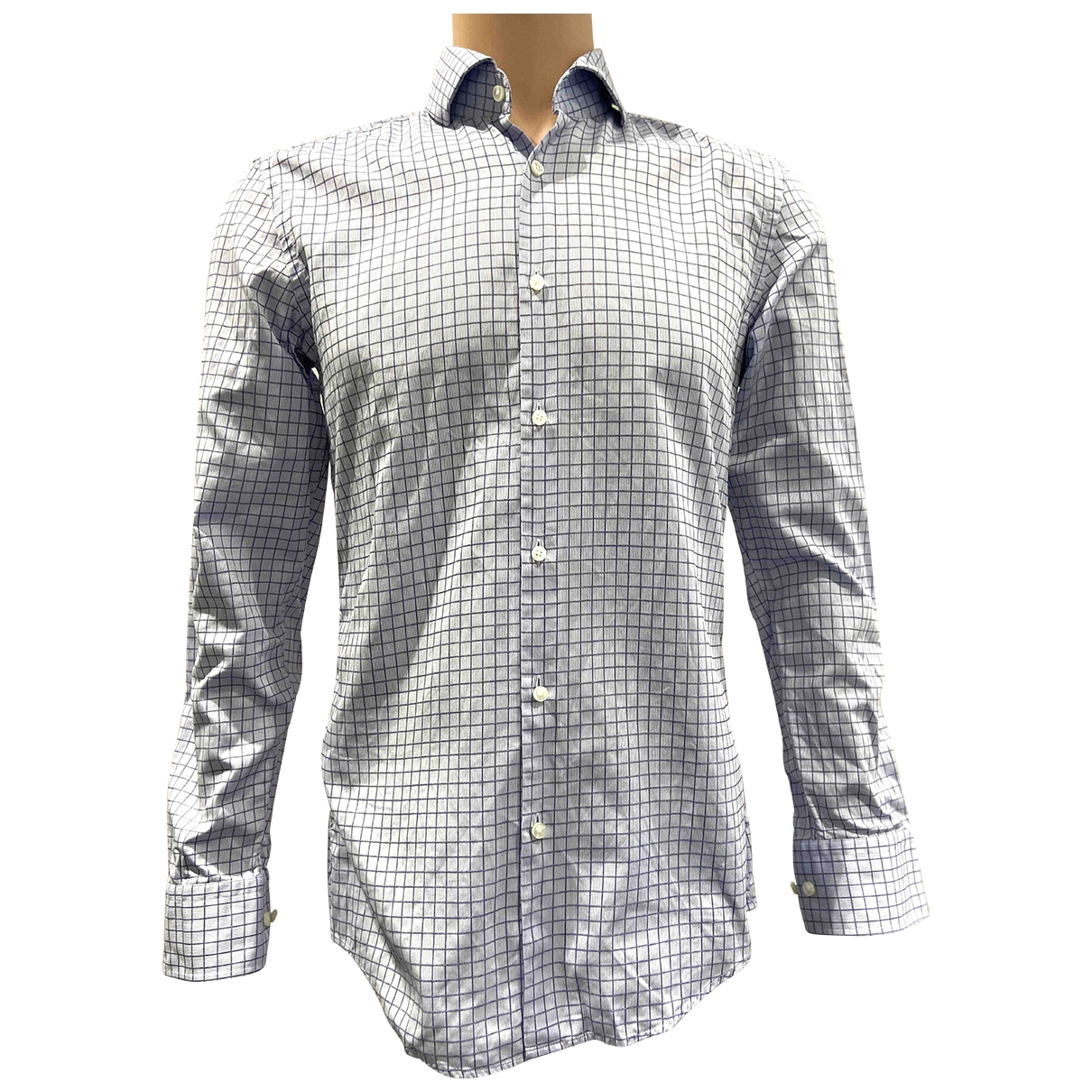Boss \N Blue Cotton Shirts for Men 38 EU (tour de cou / collar)