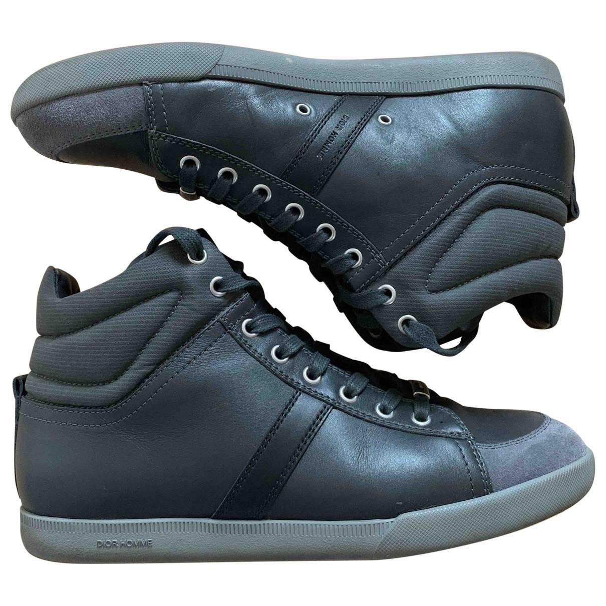 Dior Homme \N Sneakers in  Anthrazit Leder