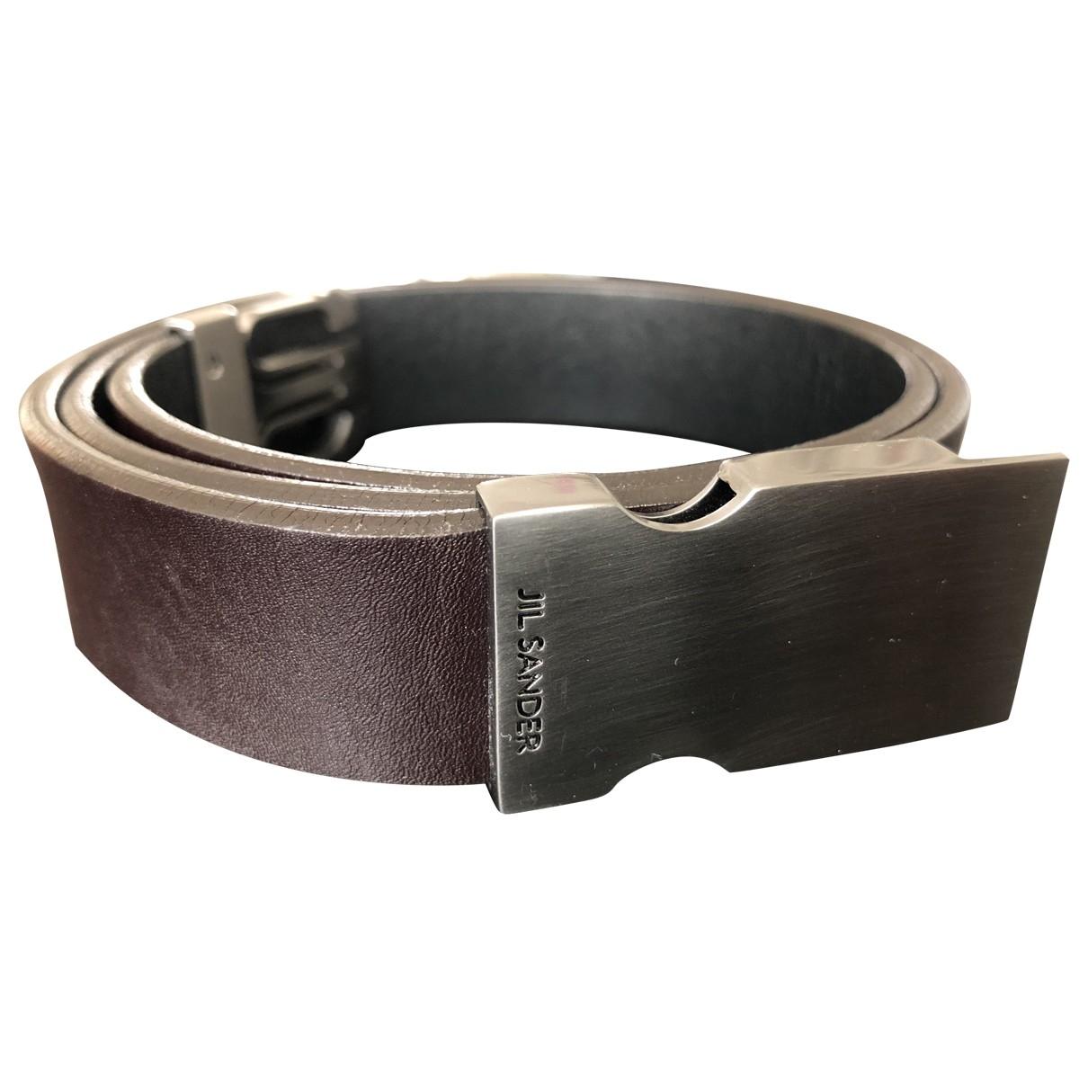 Jil Sander \N Brown Leather belt for Women 75 cm