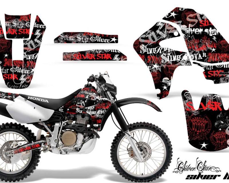 AMR Racing Dirt Bike Graphics Kit Decal Sticker Wrap For Honda XR650R 2000-2010?SSSH RED BLACK