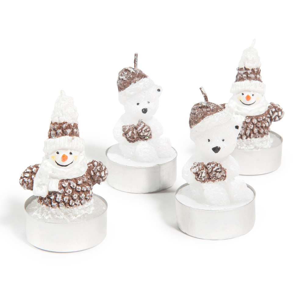 Weihnachtsfiguren-Kerzen (x4)