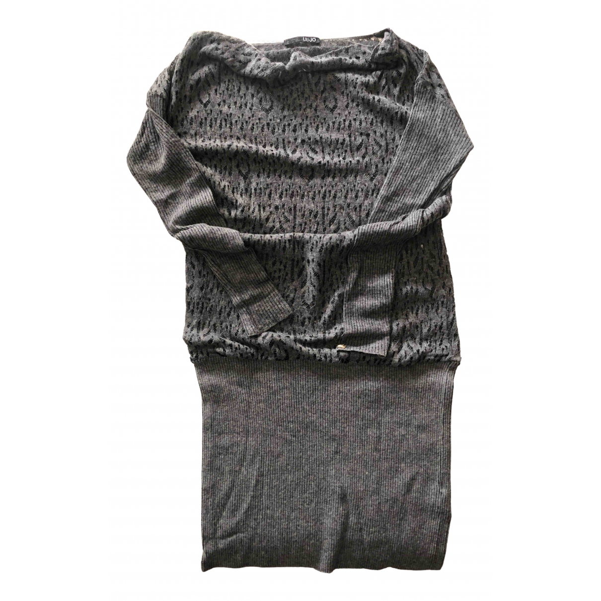 Liu.jo N Grey Wool dress for Women 42 IT