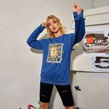 Sweatshirt mit Sonne & Stern Muster