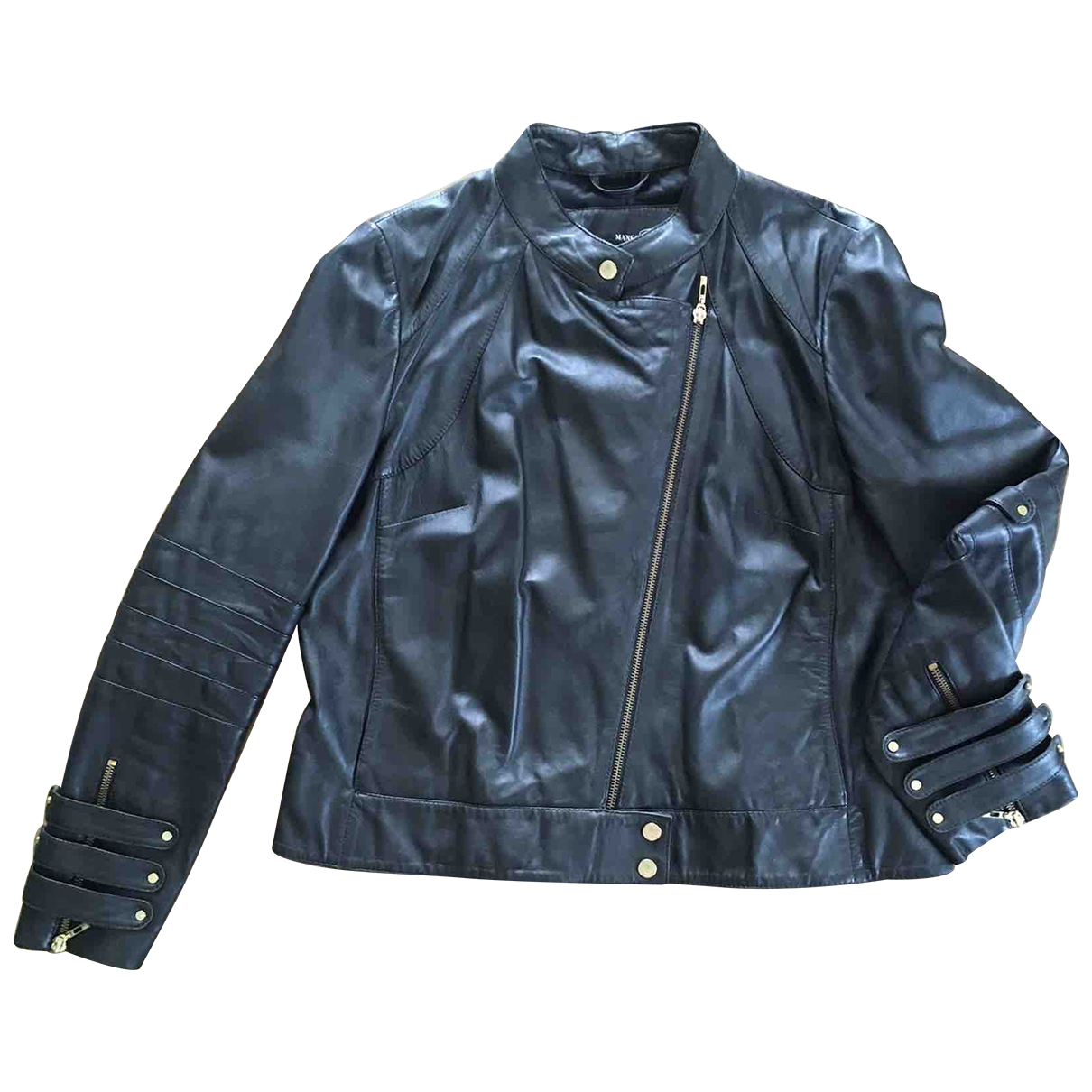 Mango \N Black Leather Leather jacket for Women 40 FR