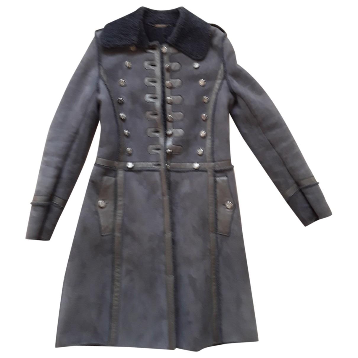 Dolce & Gabbana - Manteau   pour femme en mouton - gris