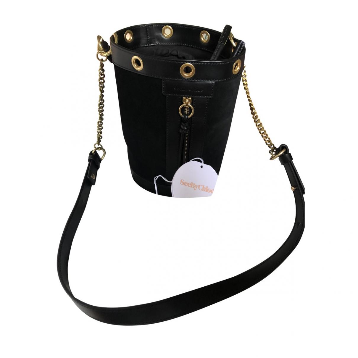 See By Chloe \N Handtasche in  Schwarz Leder
