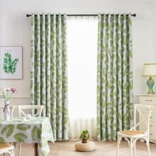 Leaf Pattern Single Panel Curtain