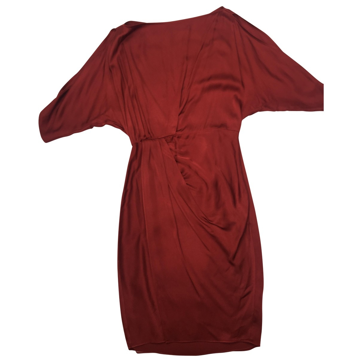 All Saints \N Kleid in  Rot Polyester