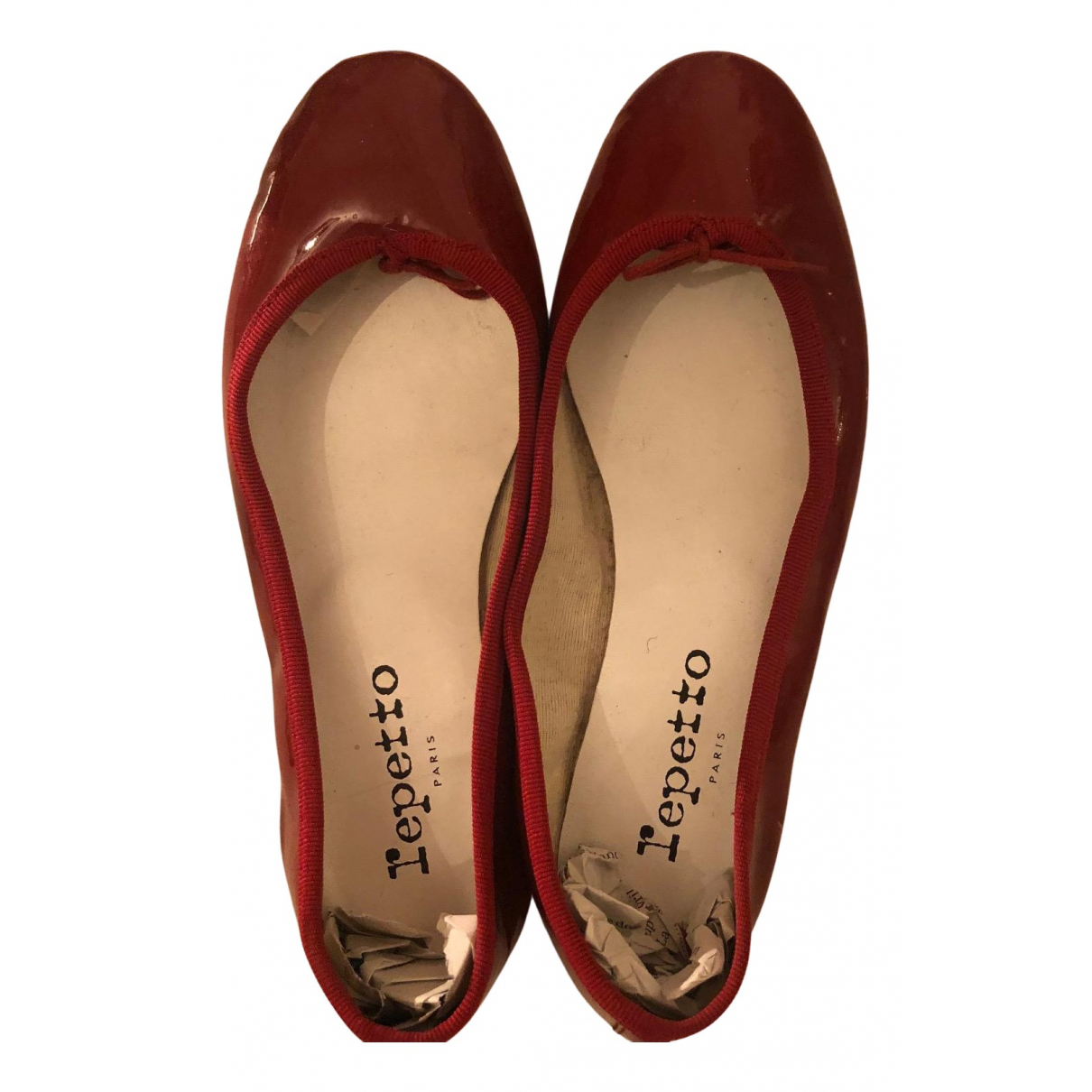 Repetto \N Ballerinas in  Rot Lackleder