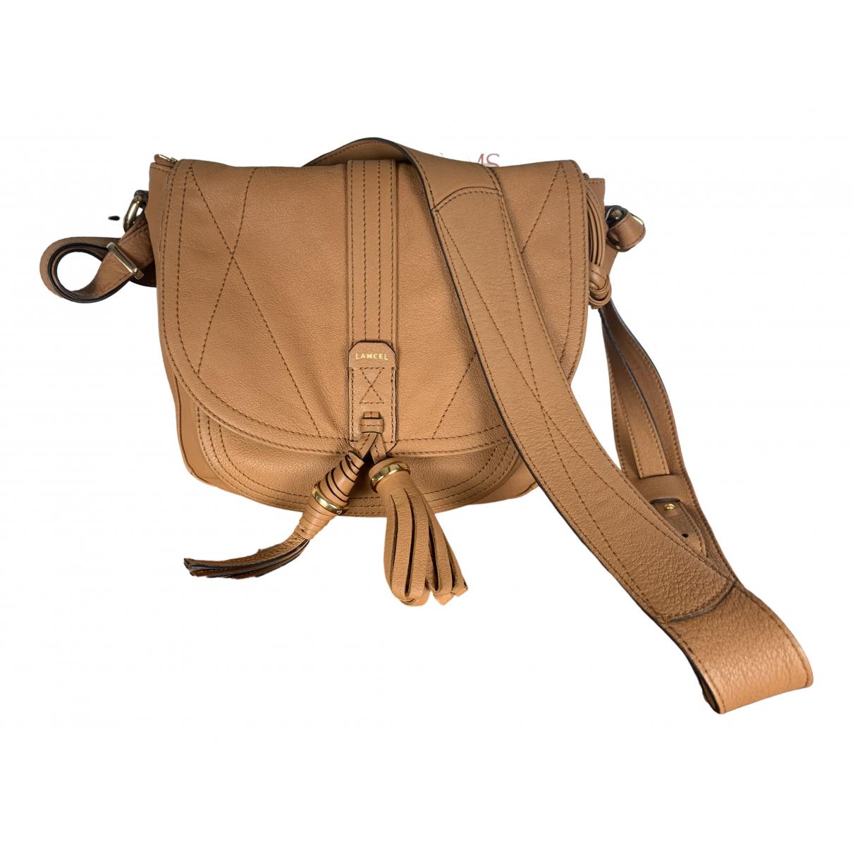 Lancel - Sac a main   pour femme en cuir - marron