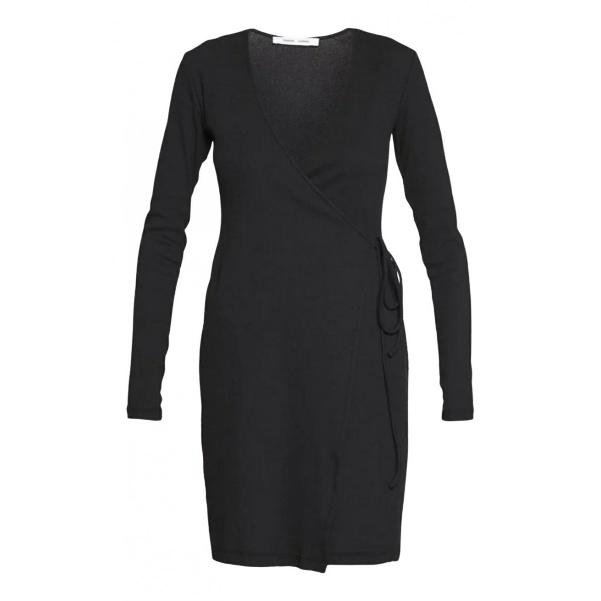 Samsoe & Samsoe \N Kleid in  Schwarz Baumwolle