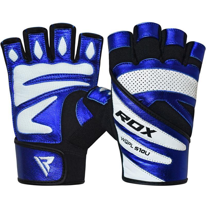 RDX S10 Concept Bleu Gants de Musculation Petite Cuir