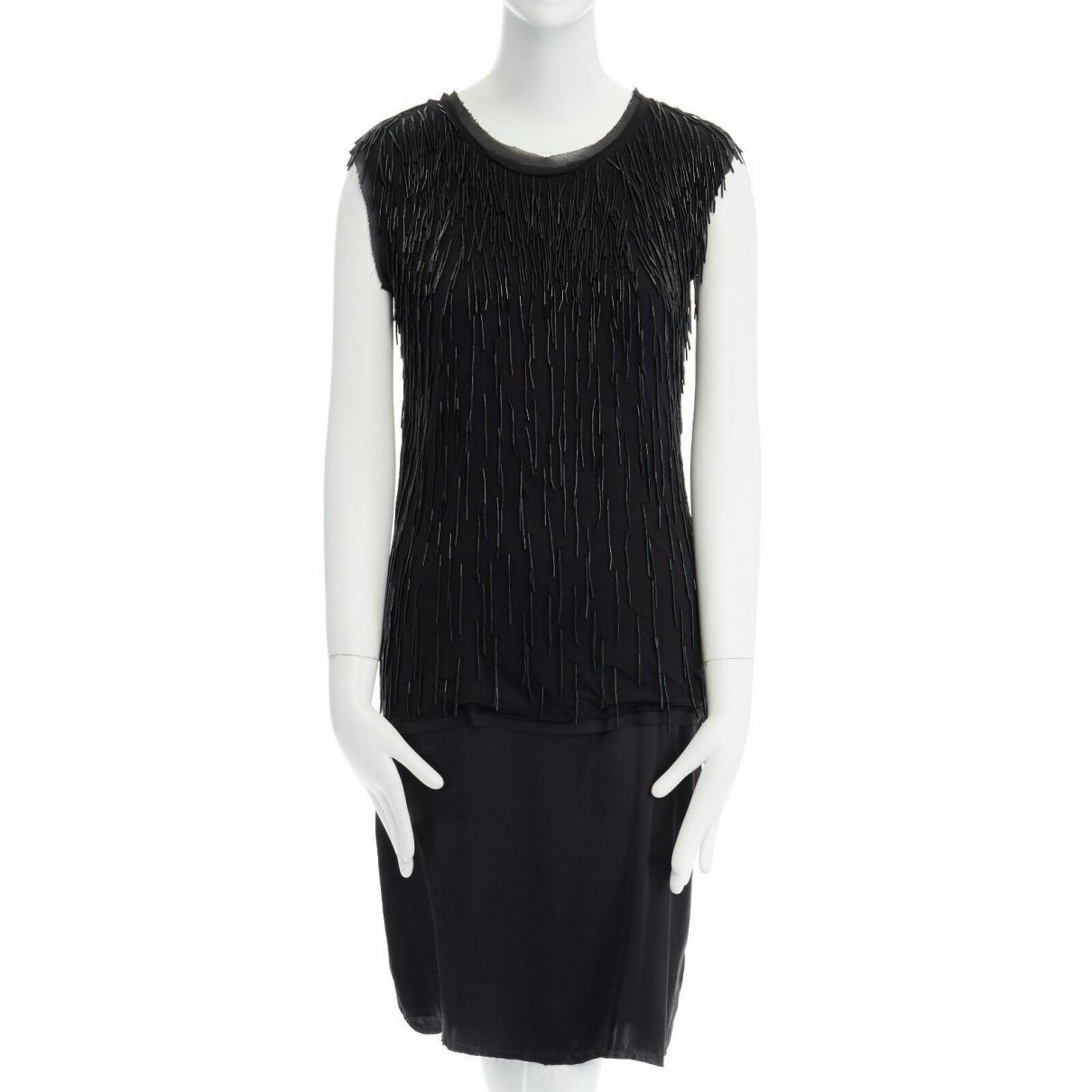 Lanvin \N Kleid in  Schwarz Seide