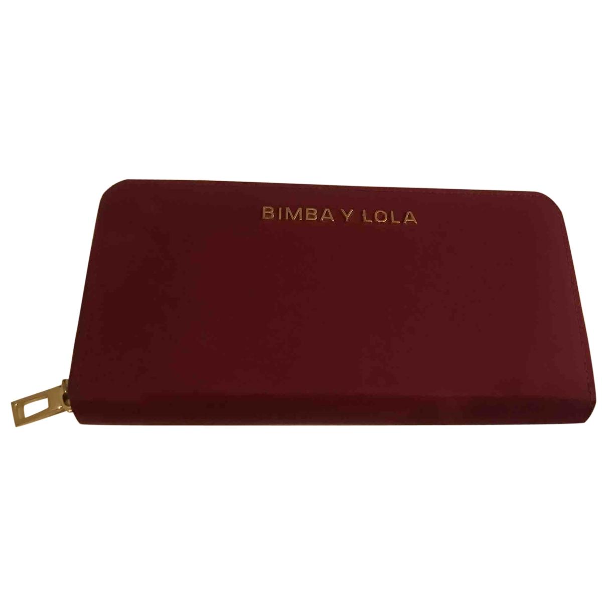 Bimba Y Lola \N Portemonnaie in  Bordeauxrot Leder
