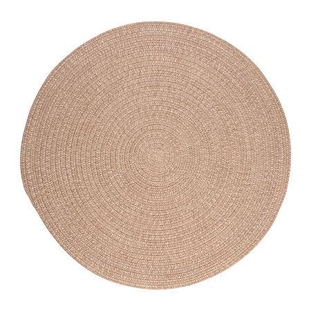 Colonial Mills American Tweed Braided Round Reversible Indoor Rugs, One Size , Beige