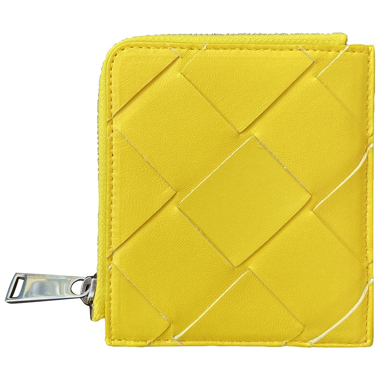 Bottega Veneta \N Yellow Leather Small bag, wallet & cases for Men \N