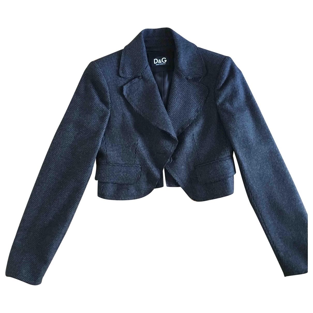 D&g \N Grey Wool jacket for Women 42 IT